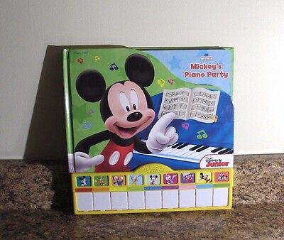Disney Mickey Mouse Clubhouse Play A Song Board Book Mickeys Piano Party New