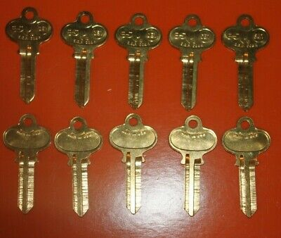 Lot Of 10 Keys Se1 Replacement For Ilco-1022 Key Blanks Made In Usa