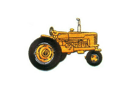 Tractor - Farm - Farmer - Orange Embroidered Iron On Patch Applique Patch for sale  Shipping to India