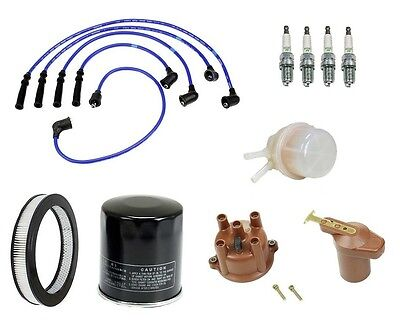 Toyota 4runner 84 2.4l Ignition Tune Up Kit Filters Cap Rotor Spark Plug Wire
