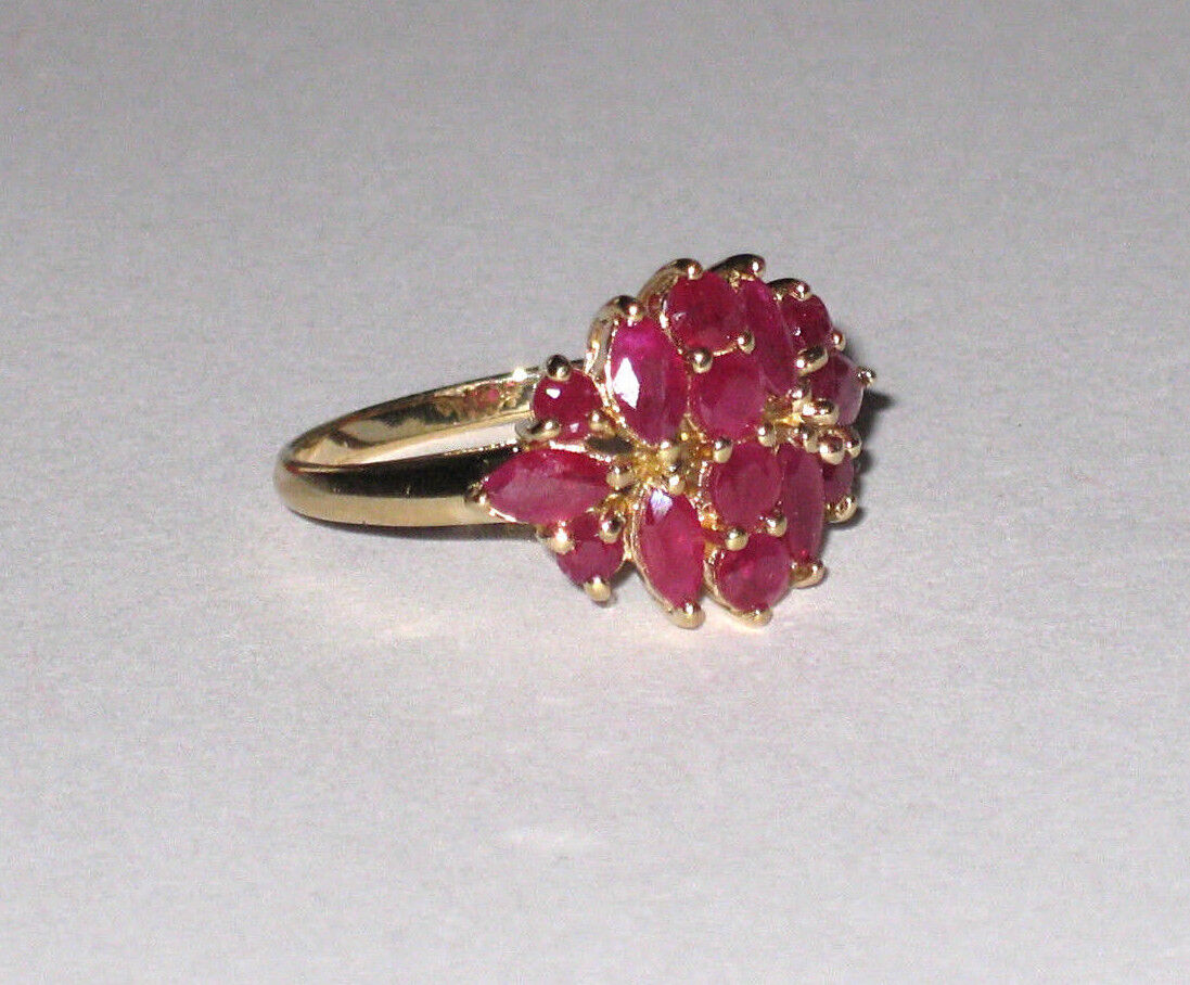 WOW SALE 10K Gold Ruby Ring 3.1 Grams Size 7 - $169.00