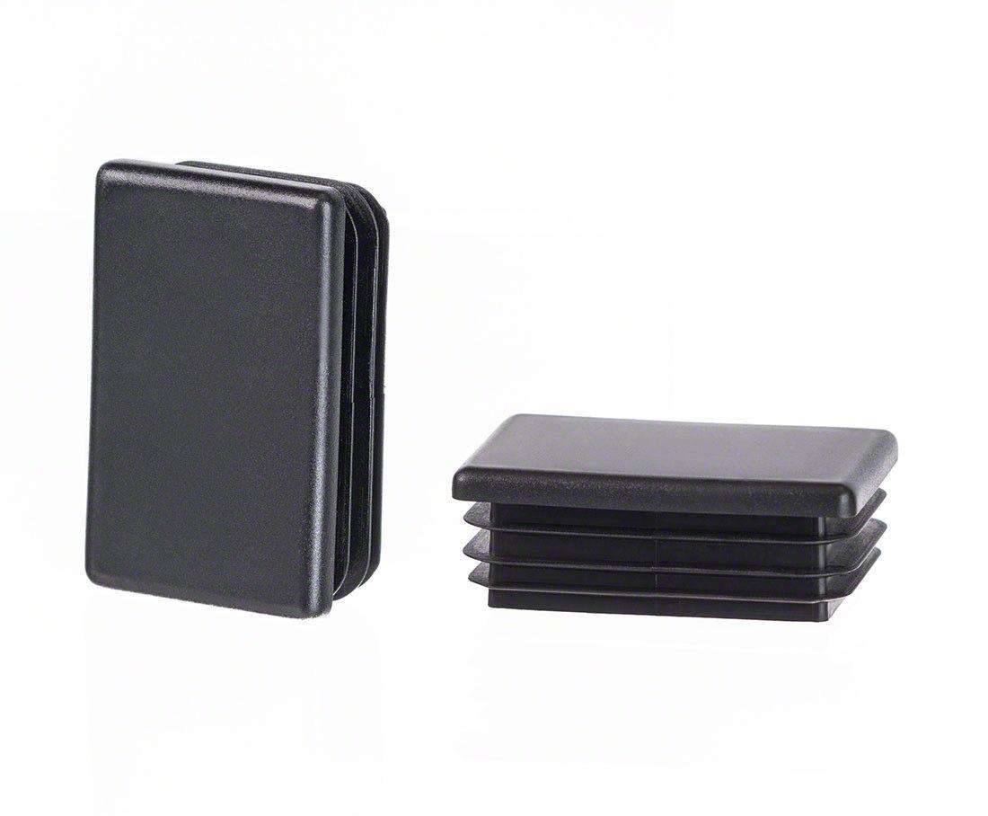 Lamellenstopfen schwarz rechteckig Verschlussstopfen Kunststoff Kappen Abdeckung