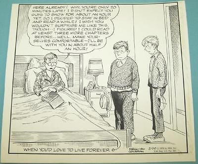 """""""Out Our Way"""" Original Comic Strip Art Drawing. NEG COCHRAN Signed. 5-30-1970"""