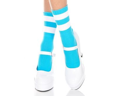 Ladies/Womens Ankle referee socks in size 4-7 striped top cotton socks