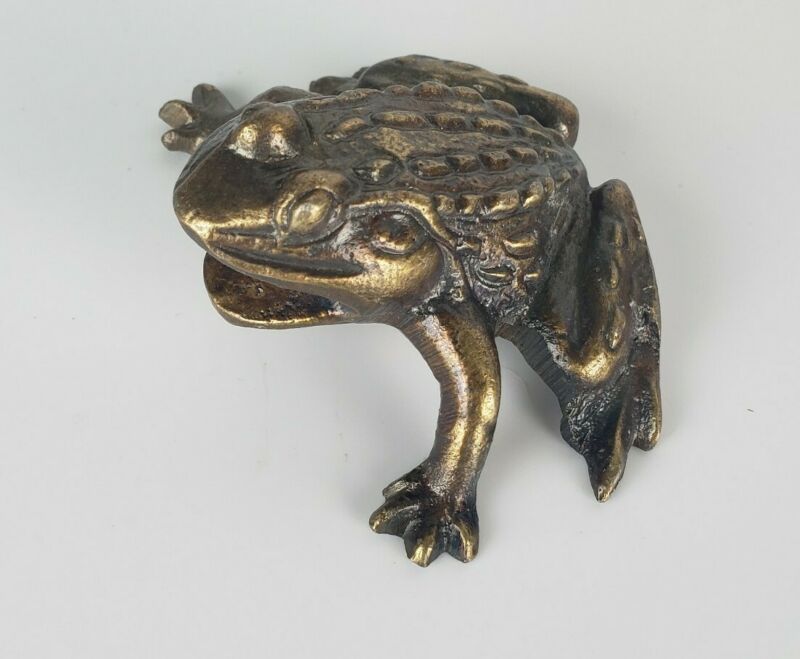 Brass(?) Metal Frog Decoration/ Figurine