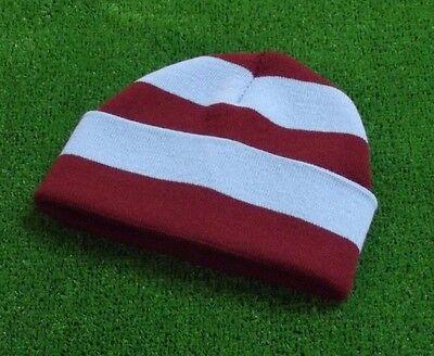 Burnley FC Colours Retro Bar Hat - Claret & Blue - Made in UK