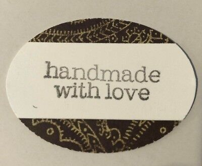 Amazing 2 inches wide handmade with love tags - set of 50 pieces