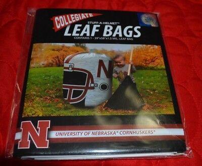 Football Helmet Decorations (NCAA Nebraska Cornhusker Stuff-A-Helmet Football Team Leaf Bag Outdoor)