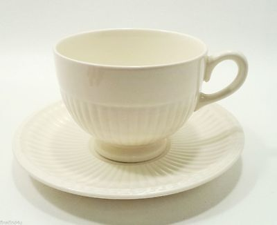 WEDGWOOD  ETRURIA & BARASTON EDME FOOTED COFFE TEA CUP (s) SAUCER (s) EXCELLENT