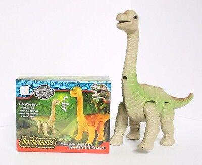 Walking Dinosaur Brachiosaurus Toy Light Sound And Motion Action Figure  Nib