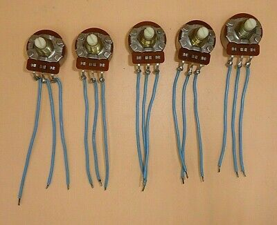 Cts Linear Taper 1500 Ohm Potentiometer With Flying Leads Lot Of 5