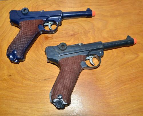 Vintage MARX 1253KU P.08 GERMAN LUGER Toy Cap Gun WWII 1960s Toys Working