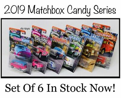 2019 Matchbox Candy Cars Series Collector Set Of 6 VW Van,Silverado,Austin Mini - Van Matchbox