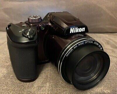 Nikon COOLPIX B500 16.0MP Digital Camera - Plum with Bag