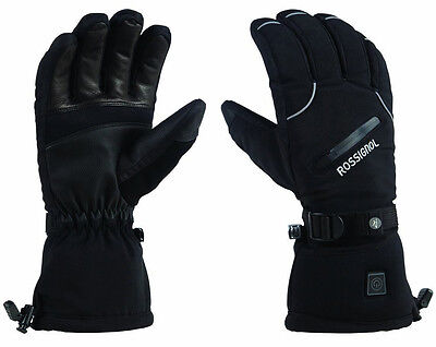 NEW $200 Mens Rossignol Winters Fire Electric Battery Powered Heated Ski Gloves ()