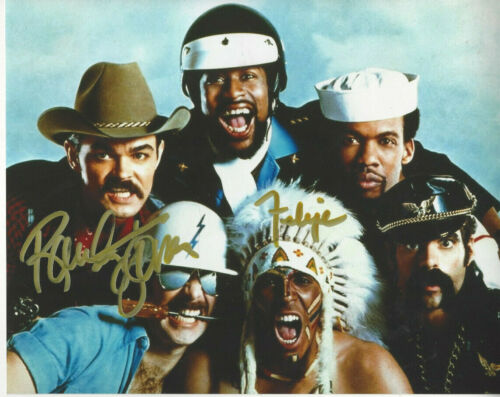 Village People two signatures  a 8x10 color group  photo