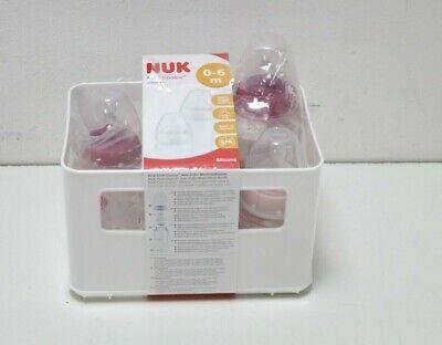 NUK First Choice+ Babyflaschen Starter Set, mit 3 Babyflaschen inklusiv Silikon