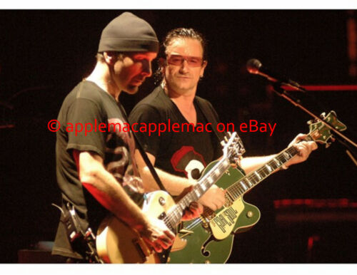 The Best!! U2 8x10 IN CONCERT PHOTO - UNPUBLISHED Bono Edge