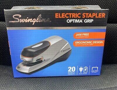Swingline Optima Grip Electric Stapler 20 Sheet Capacity Ac Or Battery New Seald