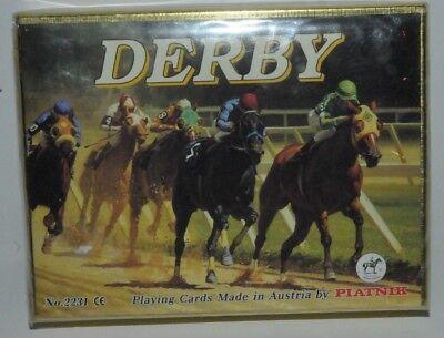 """""""PIATNIK"""" AUSTRIA 1990`s 2 DECKS SEALED PLAYING CARDS- DERBY #2231"""