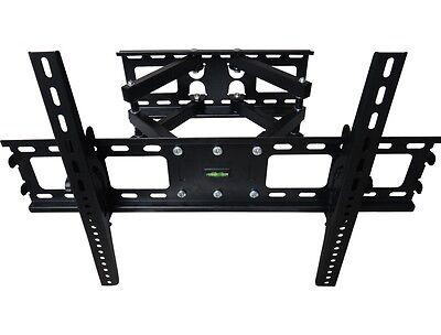 DUAL ARM FULL MOTION TILT LCD LED TV WALL MOUNT BRACKET 42 46 50 55 60 65 70