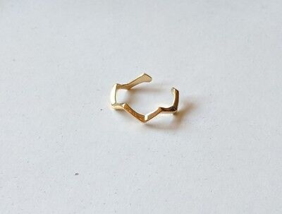 Gold Tone Adjustable Zig Zag Chevron Toe Ring New!