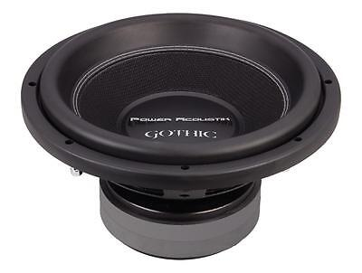 "NEW Power Acoustik Gothic GW3-12 1200 Watts 12"" Dual 2 Ohm Car Audio Subwoofer"