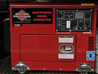 Heavy Duty Power Systems Hdd7000eda Diesel Generator 7kw 0.1 Hour Local Pickup