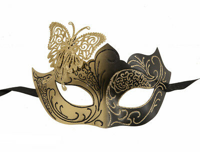 Mask Venetian Colombine Golden and Black for Spectacle Very Heavy Duty