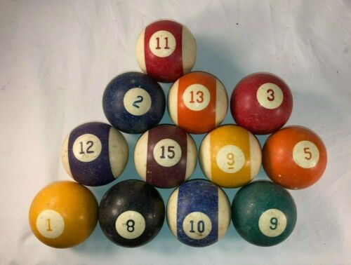 """Antique Pool / Billiards 2 1/8"""" dia. Ball Collectible Vintage Lot"""