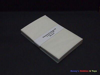 """50 New Glassine Envelopes #4 - 3 1/4"""" x 4 7/8"""" - Stamp Philately Supplies"""