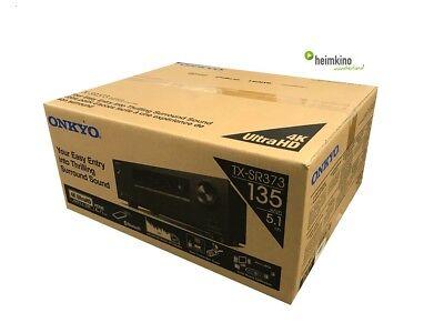 Onkyo TX-SR373 5.1 AV-Receiver, Bluetooth, 4K, HDCP2.2 (Schwarz) NEU Fachhandel