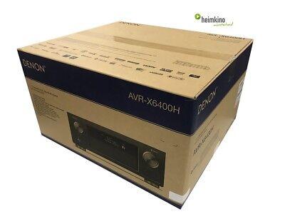 Denon AVR-X6400H AV-Receiver, Auro 3D, HEOS, HDR, HDCP2.2(Silber) NEU Fachhandel