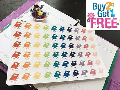 Pp189    Small Book Icons Life Planner Stickers For Erin Condren  60Pcs