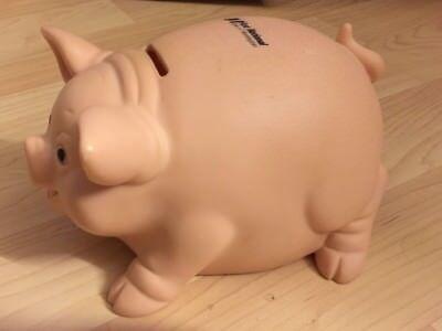 First National Huntington Piggy Bank   Vintage 1991 Toystalgia Alliance Plastics