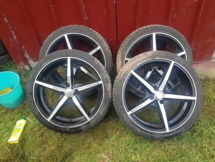 "18"" PDW alloy / mag wheels and tyres 4x100"