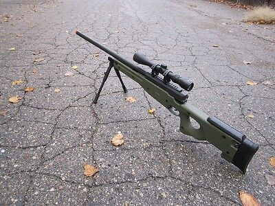 Great WELL Green Color  L96 AWP Airsoft Sniper Rifle W/ Scope +Bi-pod MB01GAB, used for sale  Troy