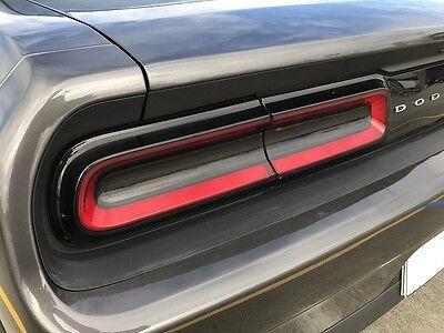 2015-2018 Dodge Challenger Taillight Smoke PreCut Vinyl Tint Overlay Kit