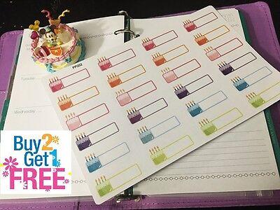 PP202-- Birthday Reminders Planner Stickers for Erin Condren (24pcs)BUY2GET1FREE