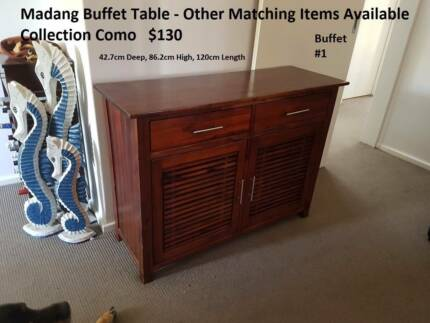 2 x Matching Madang Buffet Tables/Units. Buy seperately or both