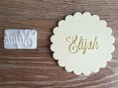 Custom Name Fondant Embosser, Cookie Stamp great for Baby Shower, Birthday party](Cookie Cutters For Baby Shower)