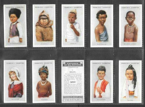 """FRANKLYN DAVEY 1934 ( CHILDREN ) FULL 50 CARD SET """"""""  CHILDREN OF ALL NATIONS """""""""""