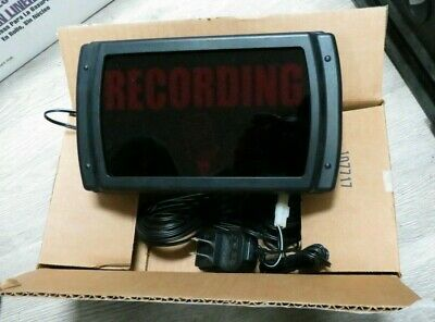 American Recorder Oas-2002m-rd Led Recording Sign Red Usa Made
