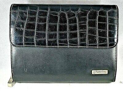 Franklin Covey Black Leather Planner Organizer 6-ring Binder 6.5x8.5