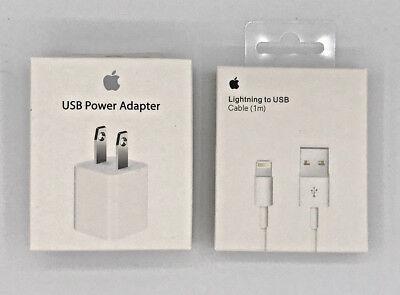 Basic Apple OEM Lightning USB Cable & Wall Charger Cube Plug Set iPhone iPod