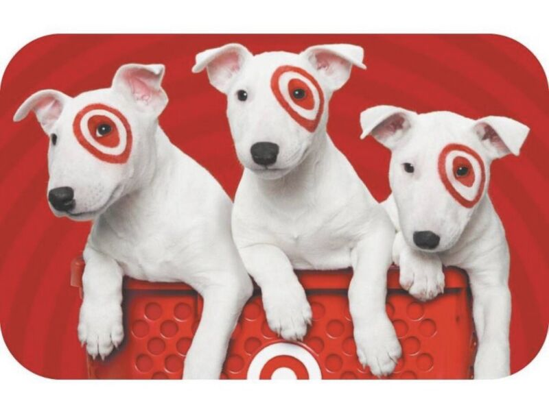 Brand New Unused $150 Target Puppy Dog Bullseye Gift Card Free Fast Shipping