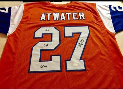 Denver Broncos Steve Atwater Custom Jersey W Inscription - Custom Denver Broncos Jersey