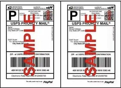 Ups Made 1000 Shipping Labels Half Sheet 2 Per Sheet 8.5 X 11 Self Adhesive