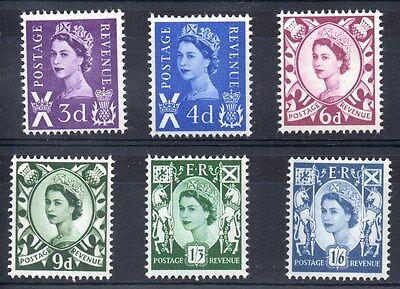 Scotland. S1-S6. Set x 6 pre-decimal definitives. Fine unmounted mint.