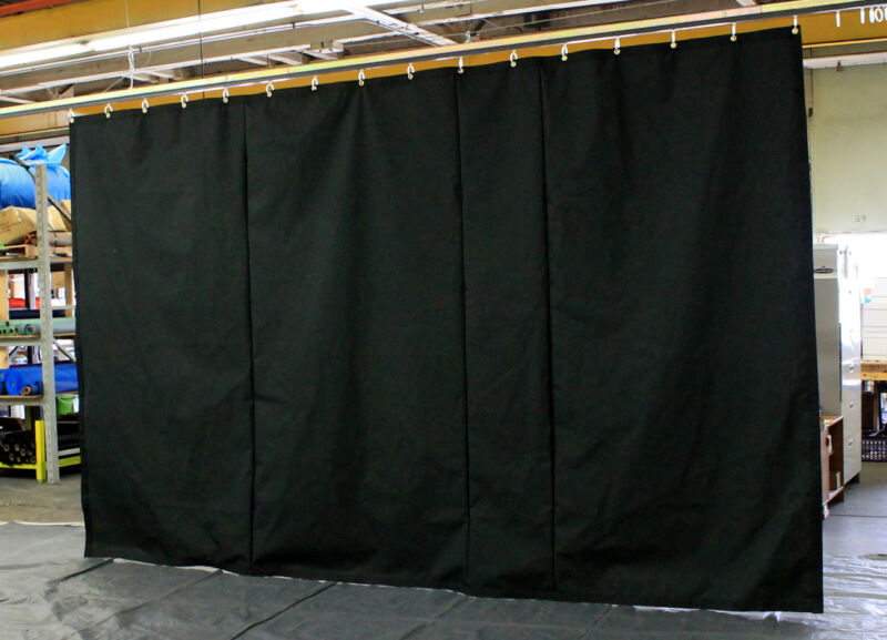 Black Stage Curtain/Backdrop/Partition, 10 H x 15 W, Non-FR